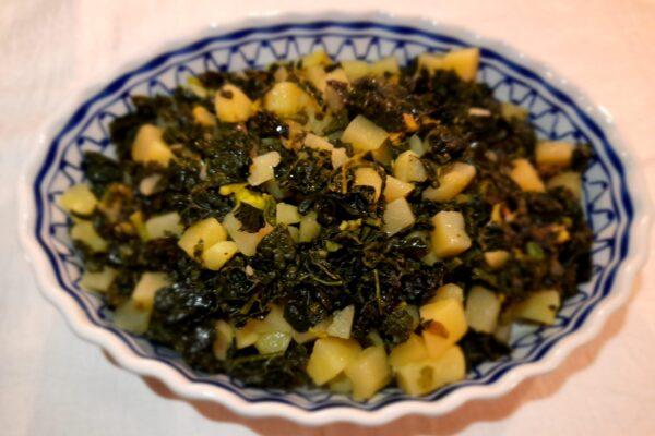 Padellata di cavolo nero e patate
