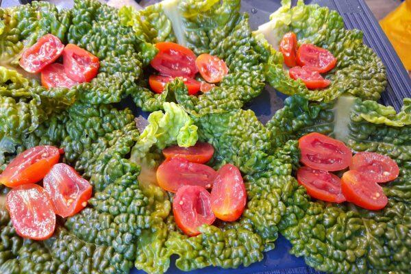 verza e pomodori