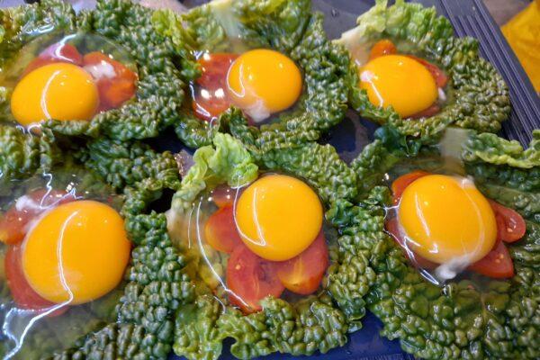 verza pomodori e uova